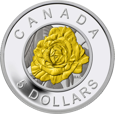 2014 Canada Fine Silver and Niobium Five Dollars Coin -Rose