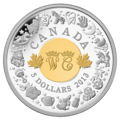2013 Canada Fine Silver Five Dollars- Royal Infant Toys