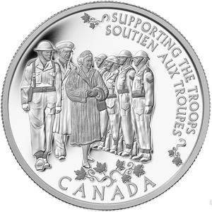2015 Canada Fine Silver $5 Five Dollars -Today's Monarch, yesterday Princess