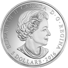 2016 Canada Fine Silver $5 Five Dollars- Birthstones: March-Aquamarine