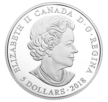 2018 Canada Fine Silver $5 Five Dollars- Birthstones: January