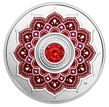 2018 Canada Fine Silver $5 Five Dollars- Birthstones: July