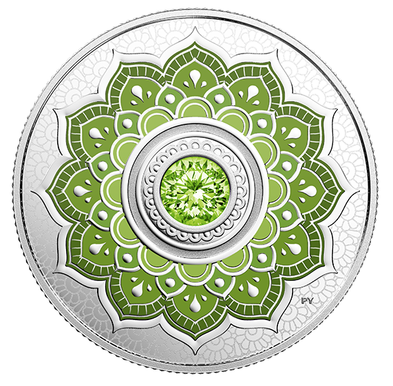 2018 Canada Fine Silver $5 Five Dollars- Birthstones: August
