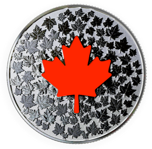 2018 Canada Fine Silver $5 Five Dollars Coin -Glow in the Dark