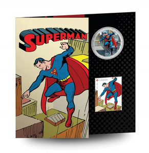 2013 Canada Nickel Half Dollar-50 Cents 75 th Anniversary of Superman-Then and Now coin and Stamp
