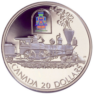 2000 Canada 20 Dollars Transportation on Land, Sterling coin # 3 The Toronto
