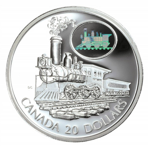 2001 Canada 20 Dollars Transportation on Land, Sterling coin # 6 The Scotia