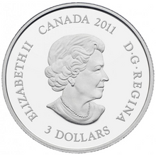 2011 $3 Three Dollars-Birthstone Collection-February-Amethyst