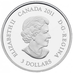 2011 $3 Three Dollars-Birthstone Collection-August-Peridot