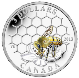 2013 $3 Three Dollars-Animal Architects series-Bee and Hive