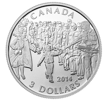 2014 Canada 3$ Fine Silver Coin - Wait For Me Daddy