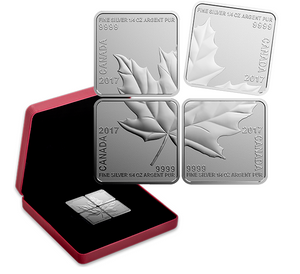 2017 Canada 3$ Fine Silver Coin - Silver maple leaf Quartet