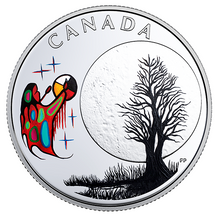 2018 Canada 3$ Fine Silver Coin - Teaching From Grandmother Moon Series-Freezing Moon