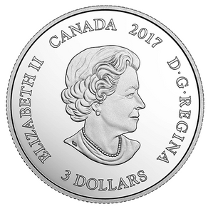 2017 Canada 3$ Three Dollars - Zodiac Series-Cancer