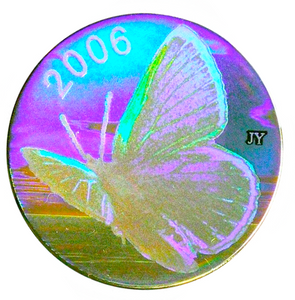 2006 Fifty Cents-Silvery Blue Butterfly, Hologram