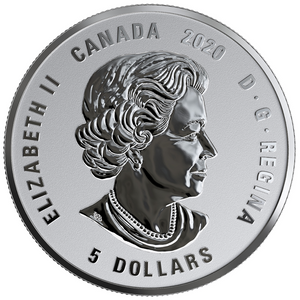 2020 Canada Fine Silver $5 Five Dollars- Birthstones: December-Tanzanite