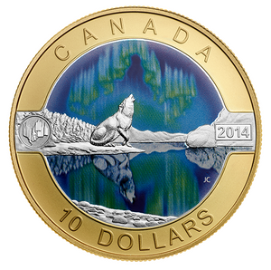 2014 Canada Fine Silver $10 ten dollars O Canada set Two, Gold Plated-10 coin