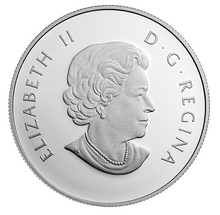 2015 Canada Fine Silver $10 Ten Dollars-Canoe Series-Mirroir, Mirroir