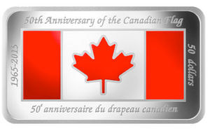 2015  $50 Fifty Dollars, 50th Anniversary of The Canadian Flag