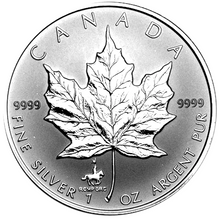 1998 Silver maple Leaf with Privy Marks-R.C.M.P.