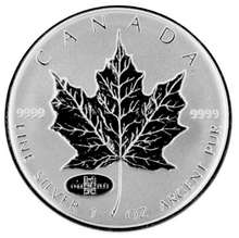 1998-(1908) Silver maple Leaf with Privy Marks-90th Anniversary R.C.M.