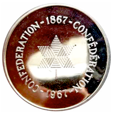 1967 Canada Confederation Sterling Silver Medal