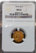1910 2 1/2 Quarter Eagle USA Indian Head Gold NGC MS-62