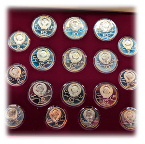 1980 Russian Solid silver Roubles, Proof Olympic Collection