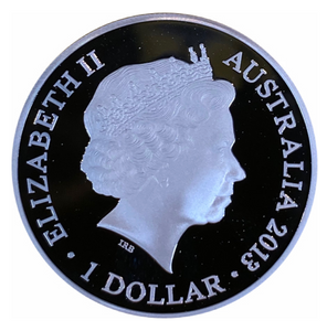 2013 $1 Kangaroo In Outback, Fine Silver proof-F-15 Privy Mark