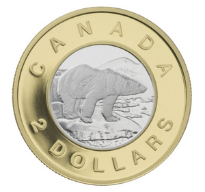 2006-1996 Canada Gold Twoonie, Proof Polar Bear Two Dollars Coin