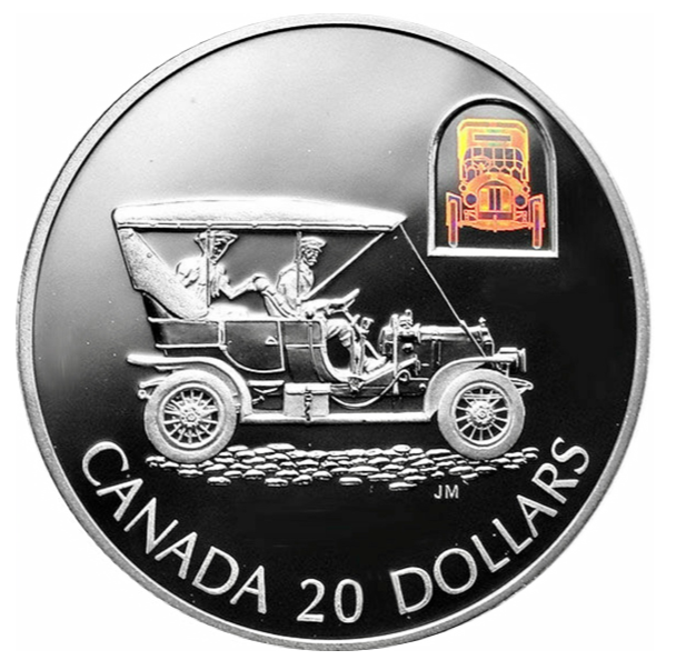 2001 Canada 20 Dollars Transportation on Land, Sterling coin # 4 The Russell