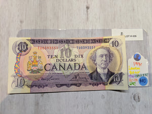 1971 Bank of canada 10 Dollars Lawson Bouey  Serial: T/U 0393551 Lot: 436
