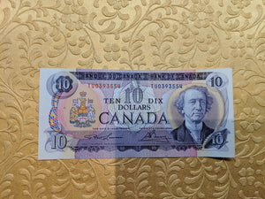 1971 Bank of canada 10 Dollars Lawson Bouey  Serial: T/U 0393554 Lot: 439