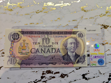1971 Bank of canada 10 Dollars Lawson Bouey  Serial: T/Z 0298678 Lot: 441