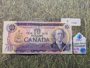 Bank of canada 10 Dollars Lawson Bouey Serial: T/Z 0298680 Lot: 444