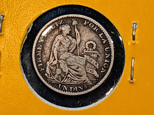 1898  Peru 1 Dinero, Silver Coin Lot:289 - Trade your coins