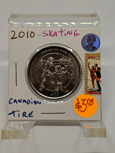 2010 Canadian Tire Token 1 Dollar Limited Edition-Skating
