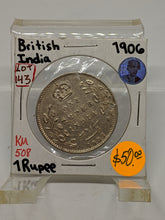 1906 British India One Rupee  KM-508 Silver Coin Lot-143 - Trade your coins