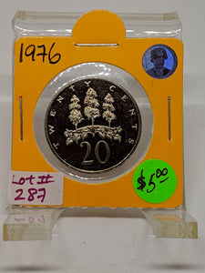 1976 Jamaica 20 Cents Proof Coin Lot:287