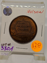1986 MOLSON 200th ANNIVERSARY 1786-1986 TOKEN Lot# 330A