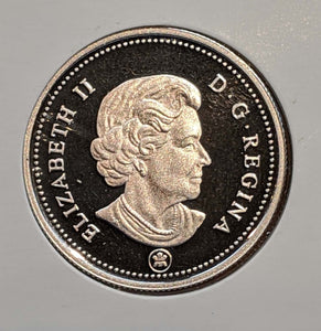 2010 Canada Fifty Cents Silver proof Heavy cameo