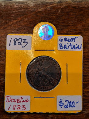 1823 Great Britain Farthing Georgius IIII Doubling 1823 - Trade your coins