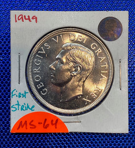 1949 Canada Silver One Dollar First Strike  MS-64 (3)