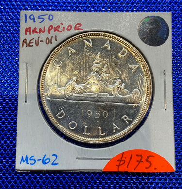 1950 Canada Silver One Dollar Arnprior MS-62 REV-011 (18)