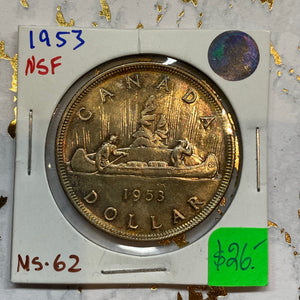 1953 Canada Silver One Dollar NSF MS-62 (28)