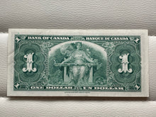 1937 Bank of Canada 1 Dollars Banknote Gordon Towers Serial: ZL 2781484