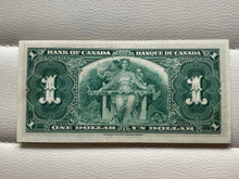 1937 Bank of Canada 1 Dollars Banknote Gordon Towers Serial: ML 8159603 - Trade your coins