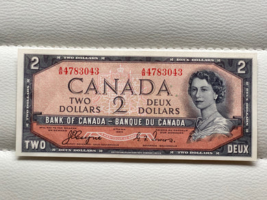 1954 Bank of canada 2 Dollars Devil's face Coyne Towers AB 4783043