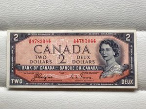 1954 Bank of canada 2 Dollars Devil's face Coyne Towers AB 4783044