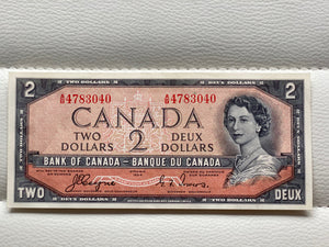 1954 Bank of canada 2 Dollars Devil's face Coyne Towers AB 4783040